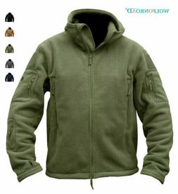 Mens Fleece Jackets Military Outdoor Winter Coats Tactical A