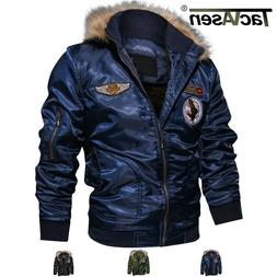 TACVASEN Mens Fleece Lining Winter Jacket Coats MA-1 Airborn