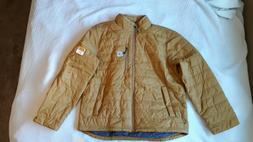 Carhartt Mens Gilliam Jacket- Brown, Large, Rain Defender, I