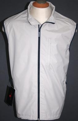 mens golf vest waterproof jacket sand khaki