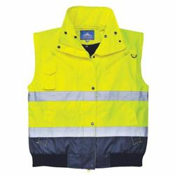 Portwest Mens Hi Viz Reflective Safety 3 in 1 Bomber VEST JA