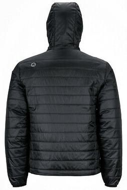 mens hooded insulated jacket coat m black