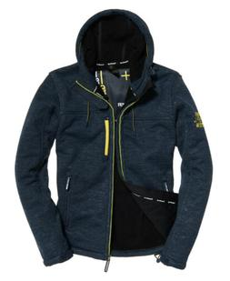 Mens Superdry Hooded Winter Sd-Windtrekker Jacket Dark Navy