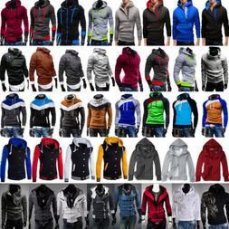 Men's Hoodie Casual Sweatshirt Pullover Hoody Hooded Jacke