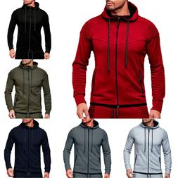 Mens Hoodie Sweatshirt Casual Hooded Coat Jacket Outerwear S