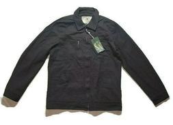 mens jacket black long sleeves lined full