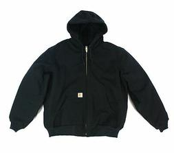 Carhartt Mens Jacket Black Size Small S Hood Quilted Lined H