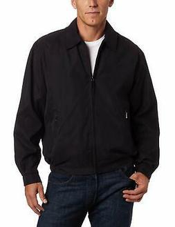 London Fog Mens Jacket Deep Black Size 3XL Auburn Zip-Front