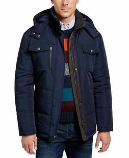 London Fog Mens Jacket Navy Blue Size Big 2X Parka Full-Zip