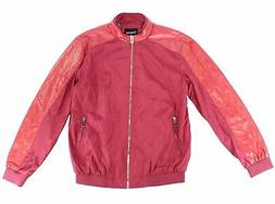mens jacket red size medium m quilted