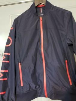 Tommy Hilfiger Mens Jacket Water Zip Up Windbreaker Rain W/H