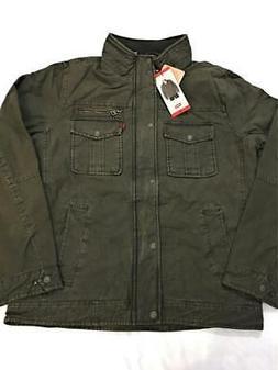 Men's Levi's Full Zip & Button Down Jacket Olive Multipl