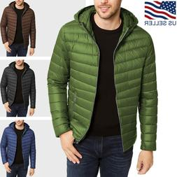 Mens Lightweight Puffer Jacket Alternative Down Quilted Hiki