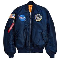 ALPHA INDUSTRIES - Mens NASA MA-1 Flight Bomber Jacket - Rep