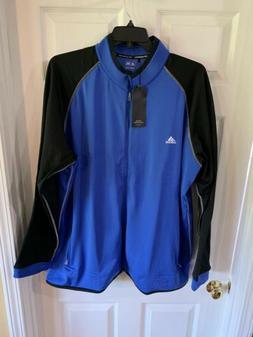 Adidas Mens NWT ClimaWarm Full Zip Jacket Blue/Black 3XL