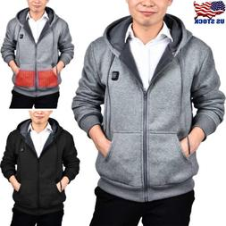 mens outwear sweater heated hoodie thermal coat