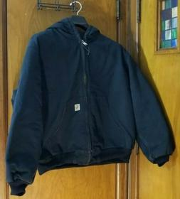 Carhartt Men's Quilted Lined Duck Jacket J140 BLK Hoodie X