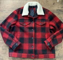 Tommy Hilfiger Mens Size XXL 2XL Lumberjack Jacket Coat Red/