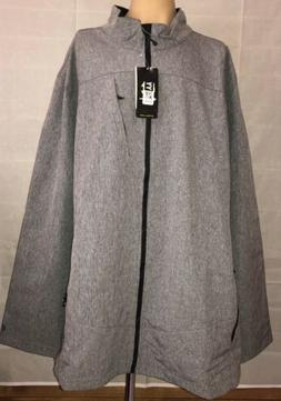 Men's Champion Soft Shell Fleece Lined Full Zip Gray Jacke