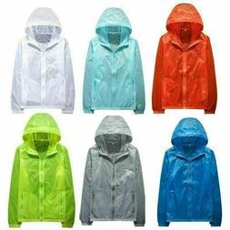 Mens Sports Jacket Waterproof Windbreaker Gym Zipper Coat Ho