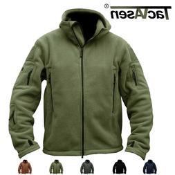 TACVASEN Mens Tactical Fleece Jackets Winter Police Warm Mil