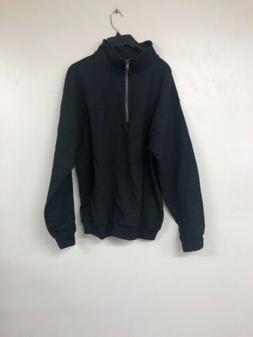 Gildan Mens Turtleneck Zip Up Jacket, Large