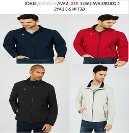 mens water resistant active stretch windproof jacket