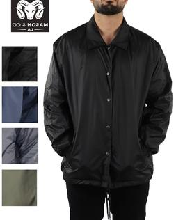 Men's Water Resistant Bomber Windbreaker Rain Jacket Nylon C