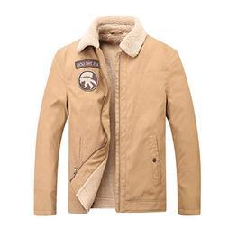 Snowman Lee Mens Winter Thicken Sherpa Lined Jacket Full Zip