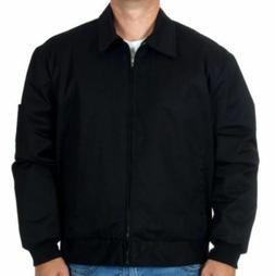 Mens Work Mechanic Jacket Style Zip Jacket Black Work Wear B