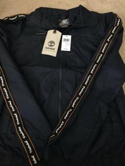 Timberland Men's Zip Up Nylon Jacket Small Windbreaker Gol