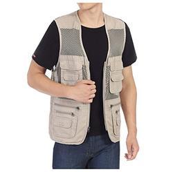 Men's Mesh Fishing Vest Photography Work Multi-pockets Outdo