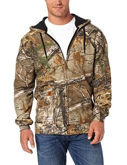 Carhartt Men's Midweight Sweatshirt Work Camo Hooded Zip Fro
