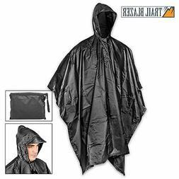MILITARY GRADE Waterproof Jacket Clear Raincoat Rain Coat Ho