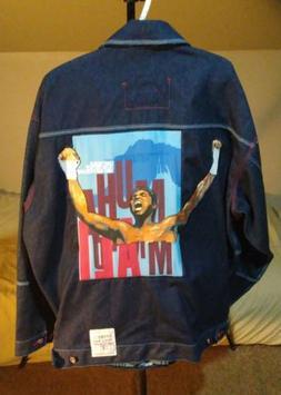 MUHAMMAD ALI Special Edition PLATINUM FUBU Mens Jean Jacket