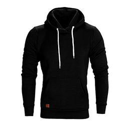 WUAI Men's Lightweight Jacket Hoodie Casual Sweatshirt Slim