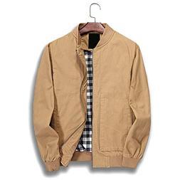 Nantersan Mens Jacket Cotton Softshell Sportswear Lightweigh