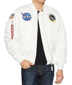 Alpha Industries NASA MA-1 Flight Jacket, White Size S