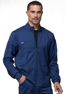 Navy Blue Cherokee Scrubs Workwear Revolution Mens Zip Front