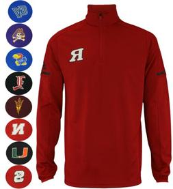 Adidas NCAA Men's Sideline L/S 1/4 Zip Pullover Jacket, Team