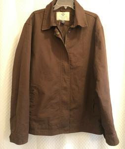 New WenVen 2XL Men's Work Wear Casual Military Lapel Jacket