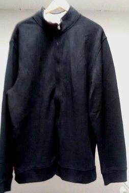New IZOD $75 Men's Size XLT XL Tall Black Full Zip White Jac