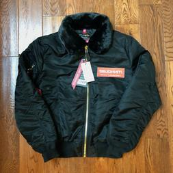 New Alpha Industries B-15 Slim Fit Jacket MA-1 Removable Col