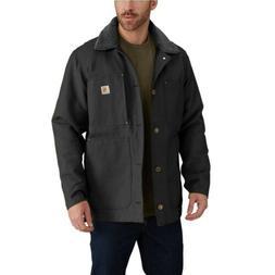 New Carhartt Black Full Swing Chore Coat Barn Jacket Mens XL