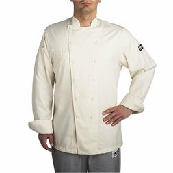 NEW CHEFWEAR WINDSOR COTTON CHEF COAT Natural