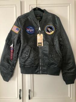 NEW Alpha Industries NASA MA-1 Flight Bomber Jacket Gunmetal