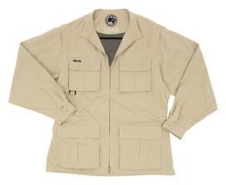 New EXOFFICIO Jacket XL X-Large Mens SAFARI Travel Light Kha