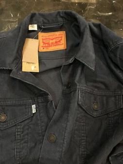 New Levi's Men's Trucker Corduroy Jacket Size XL Navy Blue