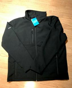 NEW COLUMBIA MEN ASCENDER SOFTSHELL II JACKET BLACK XL $115