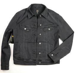 New Lee Men's Denim Jacket Trucker Riders Black Color Sizes